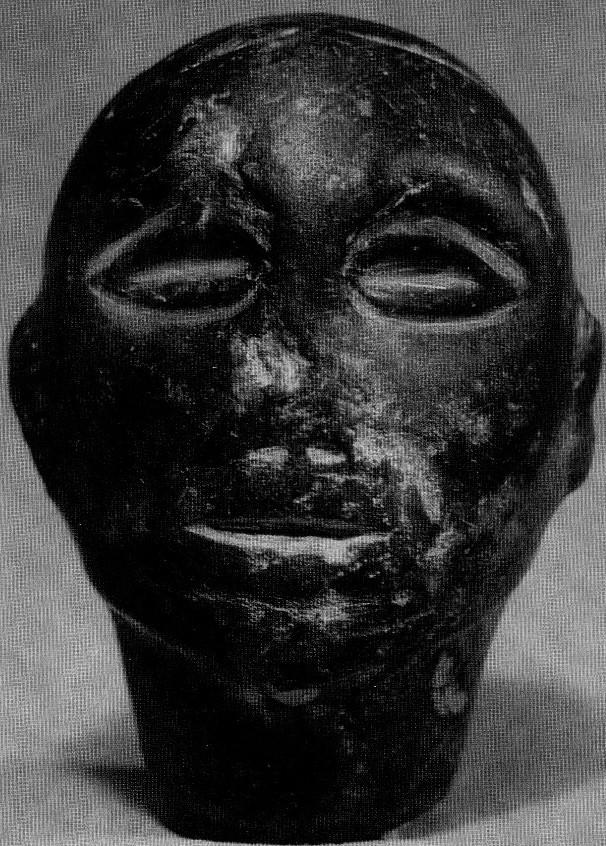 Мужская голова. Миршаде. Темный песчаник. II тысячелетие до н. э.