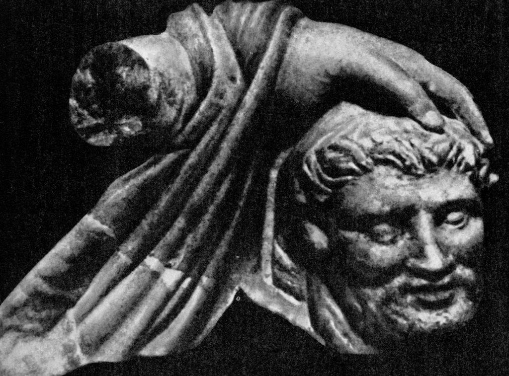 Голова сатира. Старая Ниса II век до н. э.