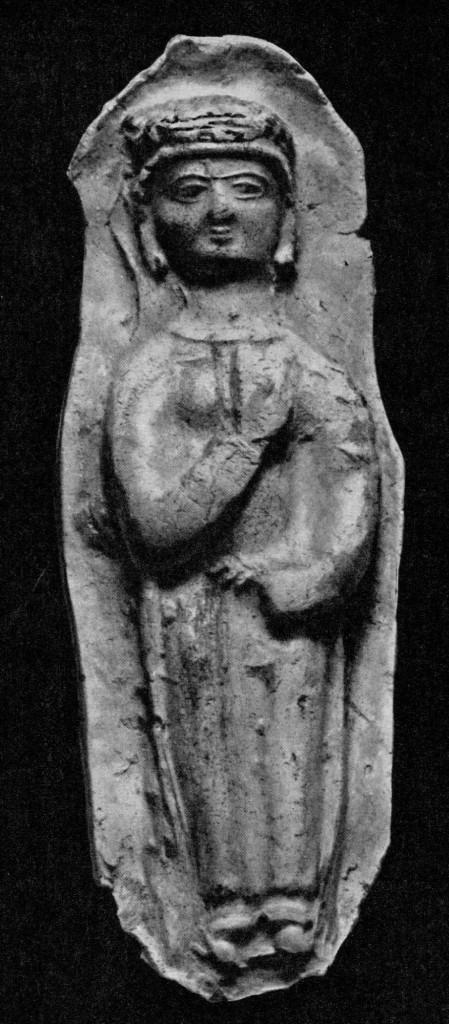 Согдийская богиня. Афрасиаб. Терракота. II - III вв.