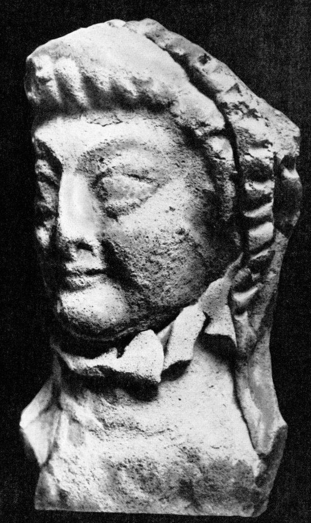 Голова богини. Бухара. Терракота. II - III вв.